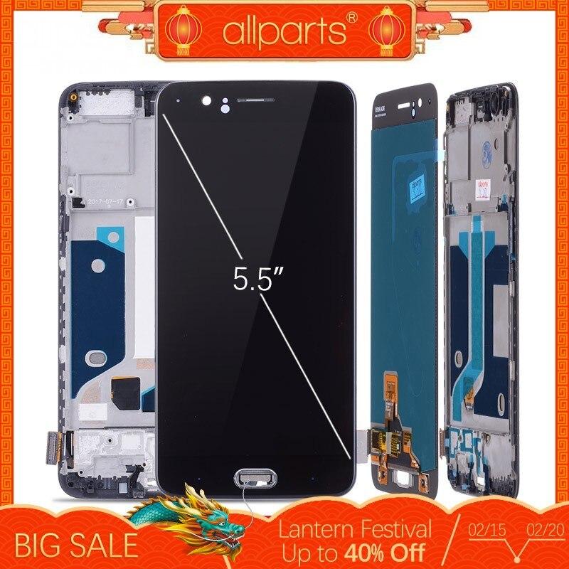 5,5 AMOLED оригинальный ЖК-дисплей для Oneplus 5 Дисплей Сенсорный экран с рамкой заменить для OnePlus 5 Дисплей A5000 один плюс 5 ЖК-дисплей