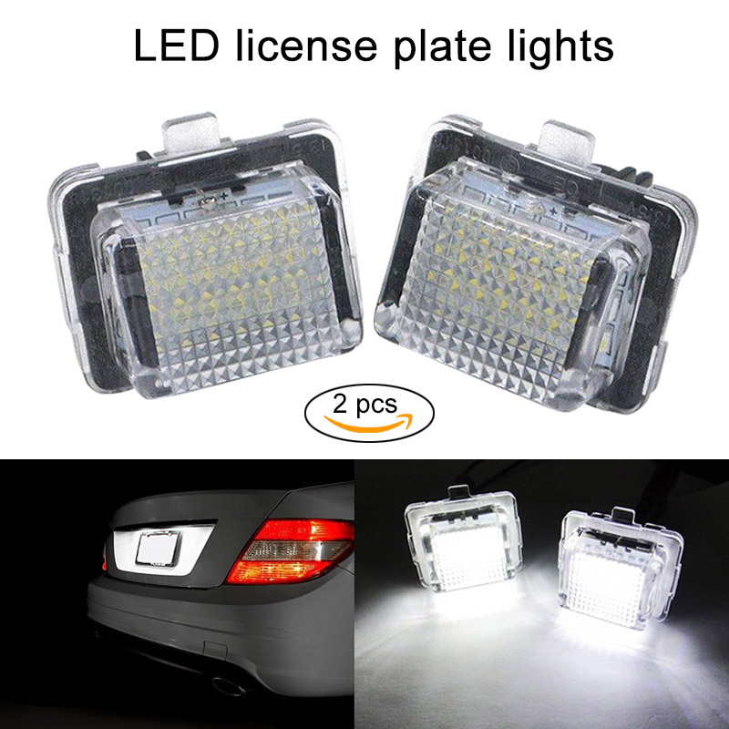 New 2 Pcs LED License Number Plate Light Bulbs Lamps for Mercedes Benz W204  DXY88 smaart v 7 new license