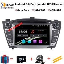2 din Android 8,0 автомобиля Радио стерео для HYUNDAI IX35 Новый Tucson dvd плеер с gps-навигатором с 4 г оперативная память 32 Встроенная Бесплатная карта камера