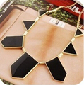 N089 Latest Fashion Choke a Small Irregular Geometric Pendant Necklace Black Pepper Jewelry Factory Direct