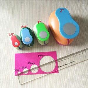 """Image 3 - Juego de perforadoras circulares para manualidades, kit de punzones redondos de espuma de papel para scrapbook, 4 Uds. (2 """",1"""",5/8 """",3/8""""), envío gratis"""
