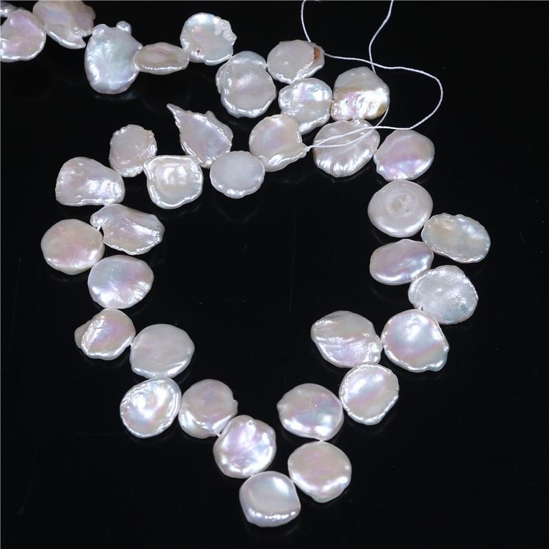 større størrelse keshi perler unik kronbladform Skinnende naturlig kvalitet ferskvand som blomst til kvinder 16 tommer