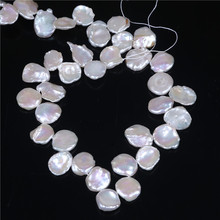 larger size keshi pearls unique petal shape Lustrous good quality natural freshwater like flower for women 16inches