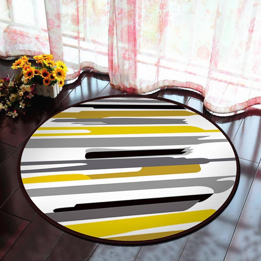 Cartoon Round Carpet Soft Carpets Anti-slip Rugs Living Room Bedroom Computer Chair Mat Floor Mat for Kids Room Home Decor