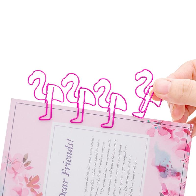 100 pçslote adorável animal rosa flamingo metal