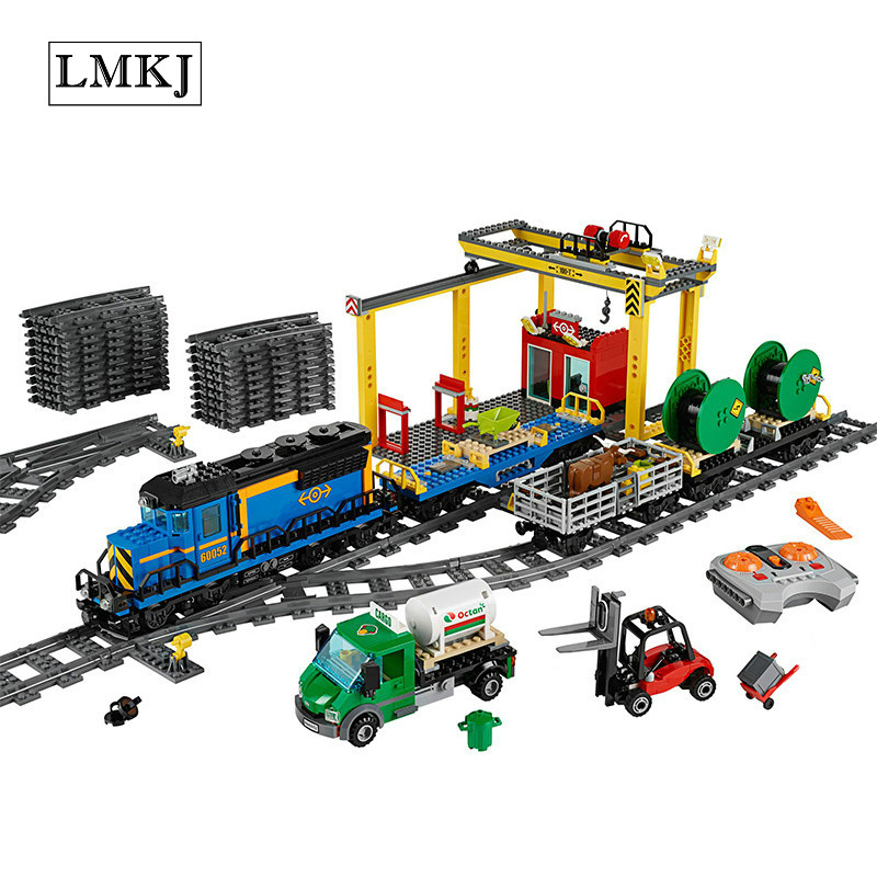 Lepin 02008 City Series the Cargo Train Set Building Blocks Bricks 60052 RC Train Children Educational Legoingly Toys Gifts lepin 02008 959pcs city series the cargo train set legoinglys 60052 model rc building blocks bricks toys for children gifts