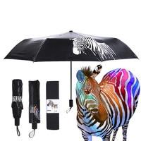 Creative Umbrella Magic Umbrella Color Changed Once Wet Zebra Umbrella Three Folding Umbrella UV Umbrellas Pocket