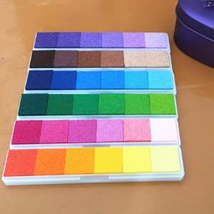 Ink-Pad Rubber-Stamp Crafts Seal Scrapbooking Finger-Painting Vintage Decoration Gradient