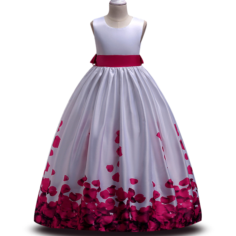 New party dress for girl  kids dress children teenagers prom gowns dresses birthday Lace Bright drill princess dress цены онлайн