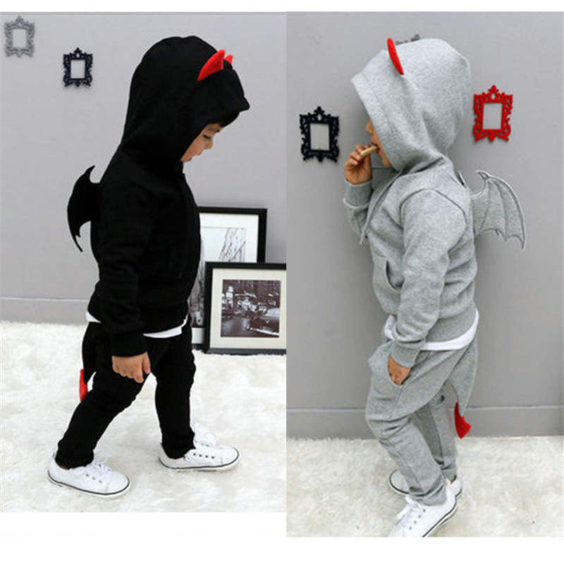 Kids Clothes Boys 2017 Baby Autumn Coats And Jackets Pants Set Korean Fashion Children Clothing Sports Suit For Boy Wing JSB331  недорого
