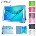 CTRINEWS Case For Samsung Galaxy Tab A 8.0 T350 Стенд Кожаный чехол для Samsung Galaxy Tab A T350 T355 Флип Кожаный Tablet случаях