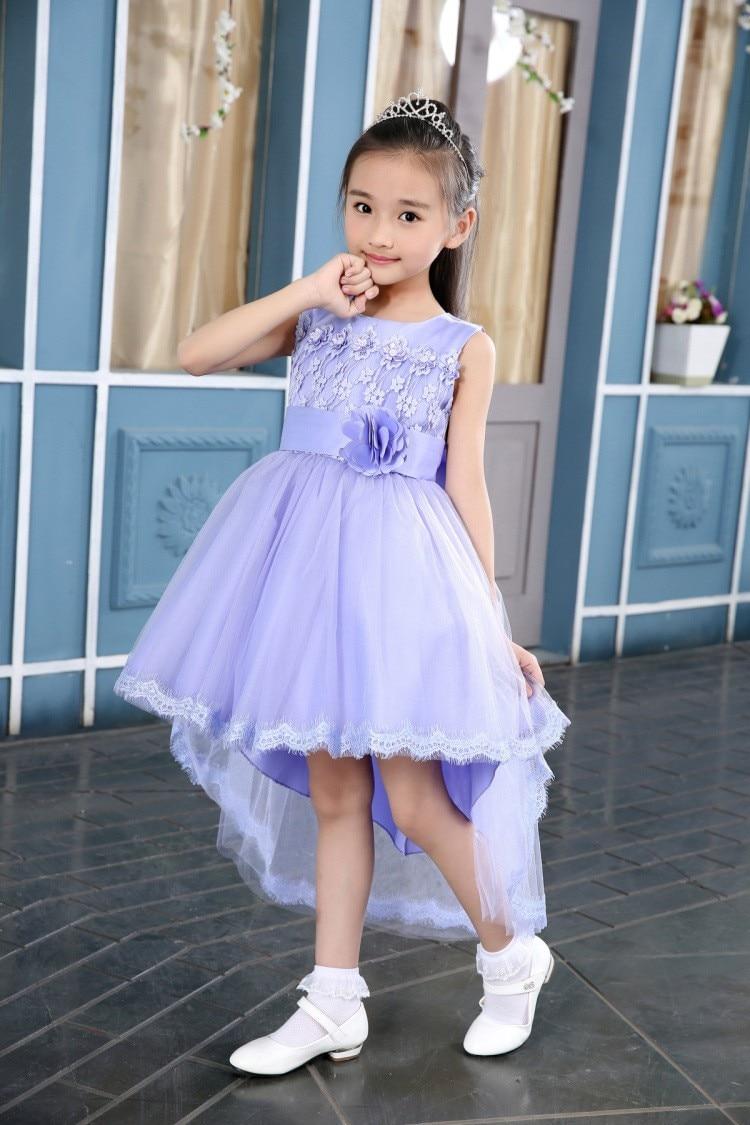Violet White Flower Girl Dresses For Weddings Elegant
