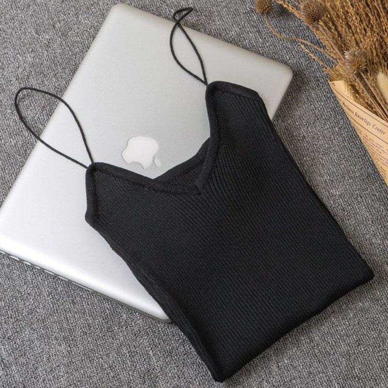 New Knitted Camis Casual Summer Tops Sexy Tank Off The Shoulder Crop Tops For Women Cropped Feminino Fashion 2018