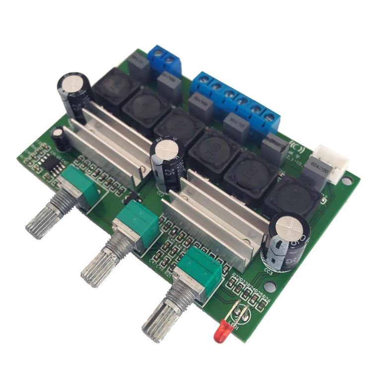 HIFI TPA3116 2.1 Subwoofer Amplifiers Digital Audio Amplifier Active Speaker Board 2*50W+100W Bass Amplificador DC12-24V