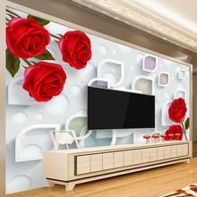 beibehang Custom flowers wallpaper 3D, simple mural for the living room bedroom TV background wall waterproof papel de parede