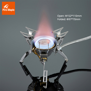 Image 2 - Fire Maple Titanium Gas Burners Camping Equipment Ultralight Foldable Burners FMS 100T Split Gas Stove Outdoor Camping Stoves