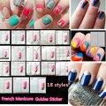 1 unids franceses consejos 18 diseños Nail Art Form guía Fringe DIY polaco Decor Nail Art Sticker Wraps herramientas de manicura FJ001-018