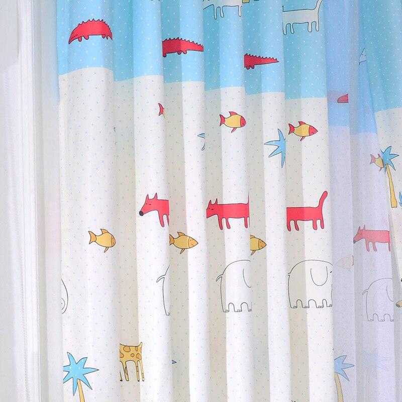 Zoo Cute Cartoon Animals Custom Curtains For Living Dining Room Bedroom Cloth Childrens School Nursery Curtain Blinds E