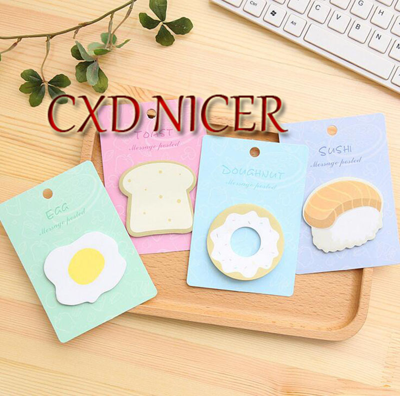 N Times Posted Memo Pad School Office Supplies Page Flags Remarks Note Stickers Sushi Breakfast Message Notepad Dd1163