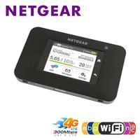 Unlocked NETGEAR AC790S Cat6 2CA 300mbps 4G WiFi Router Dongle Wireless Aircard 790S 4G LTE mobile Hotspot +2PCS 4G Antenna