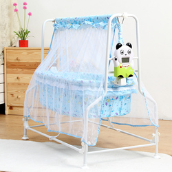 New baby electric cradle infant comfortable bed pink blue color electric swing crib intelligent auto swing.jpg 250x250
