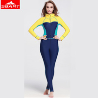 SBART Lycra Women Wetsuits Long Sleeve One Piece Swimming Spearfishing Surfing Hooded Scuba Diving Wetsuits Sportswear Equipment