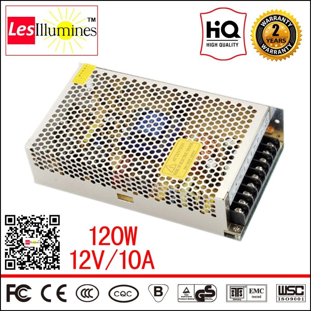 12V LED Driver S-120-12 CCTV Box Fonte Adapter Transformer Unit DC12V CE AC DC 120W Switching 220V 12V Power Supply 10A 4pcs 12v 1a cctv system power dc switch power supply adapter for cctv system