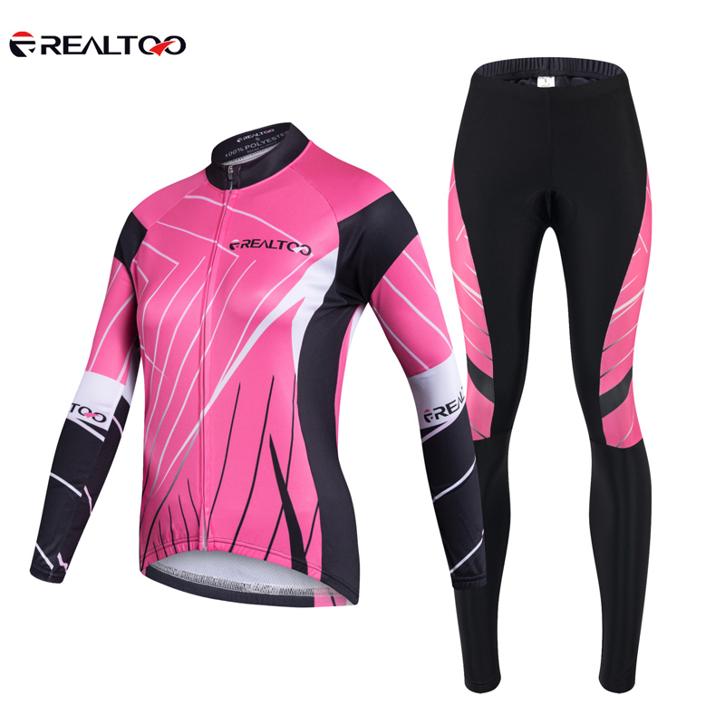 women cycling jersey set mtb Spring Summer road mountain bike jersey sets long sleeves clothes breathable sponge seat pad wheel up bicycle rear seat trunk bag full waterproof big capacity 27l mtb road bike rear bag tail seat panniers cycling touring