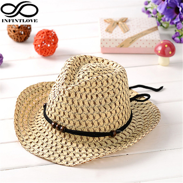 2895585cdb9cdd LUCKYLIANJI Children Kid's Jazz Bull Rider Cowboy Cowgirl Western Travel Straw  Hat (One Size: