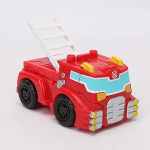 Image 3 - Playskool figurine héros transformateurs de sauvetage et robots, vague de chaleur, feu, tir à chaud, Rescan Chase la Police Bot, 13cm