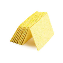 Clean tool 10pcs High Temperature Enduring Condense Electric Welding Soldering Iron Cleaning Sponge Yellow New Arrival Hot