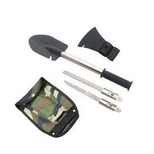 Multifunctional Fishing Tools Portable Folding Shovel Survival Spade Emergency Trowel Garden Camping Cleaning Tool Accessories