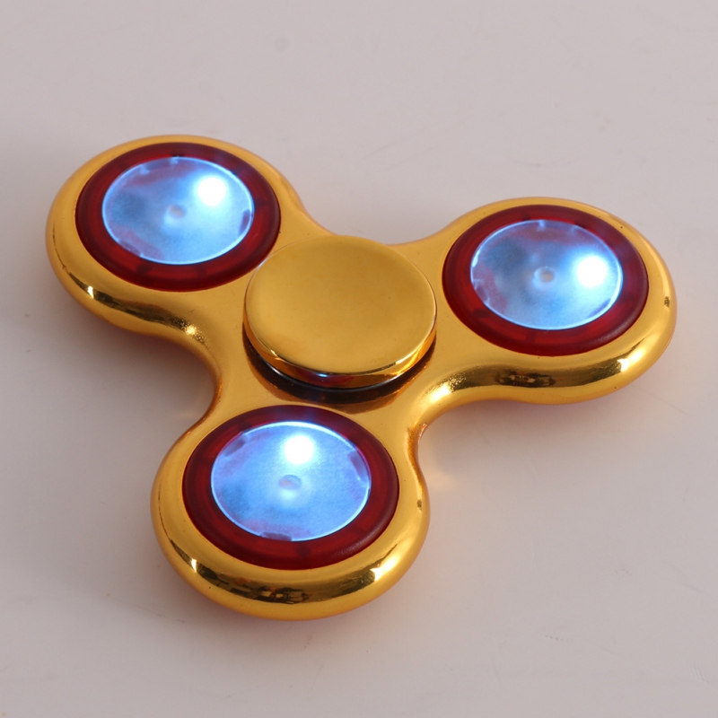 New LED Light Fidget Hand Spinner Finger Plastic EDC Hand Spinner For Autism And ADHD Relief