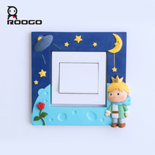 ROOGO 3D Switch Sticker Little Prince Wall Stickers For Kids Rooms Decoration Cute Cartoon Home Decor Living Room Bedroom