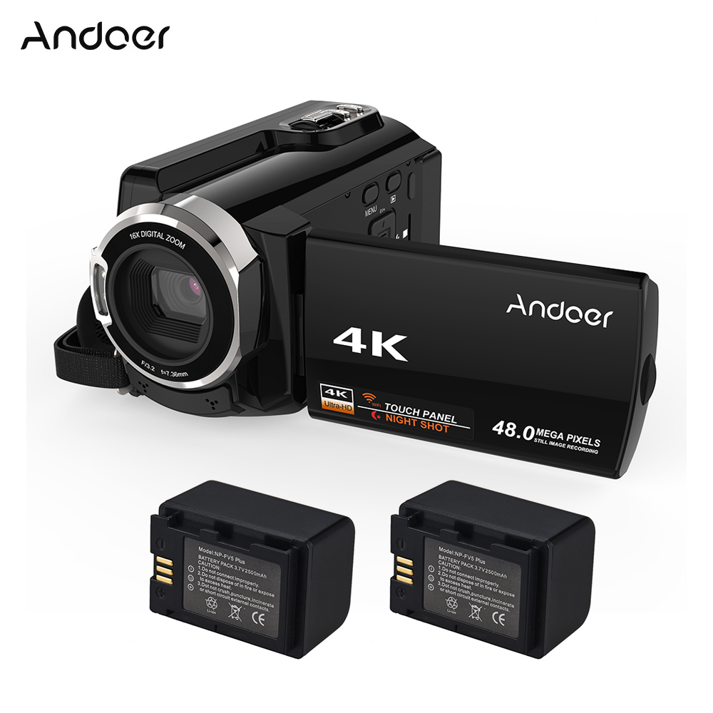 Andoer HDV 534K 4K 48MP WiFi Digital Video Camera 1080P Full HD 3 Touchscreen Infrared Night