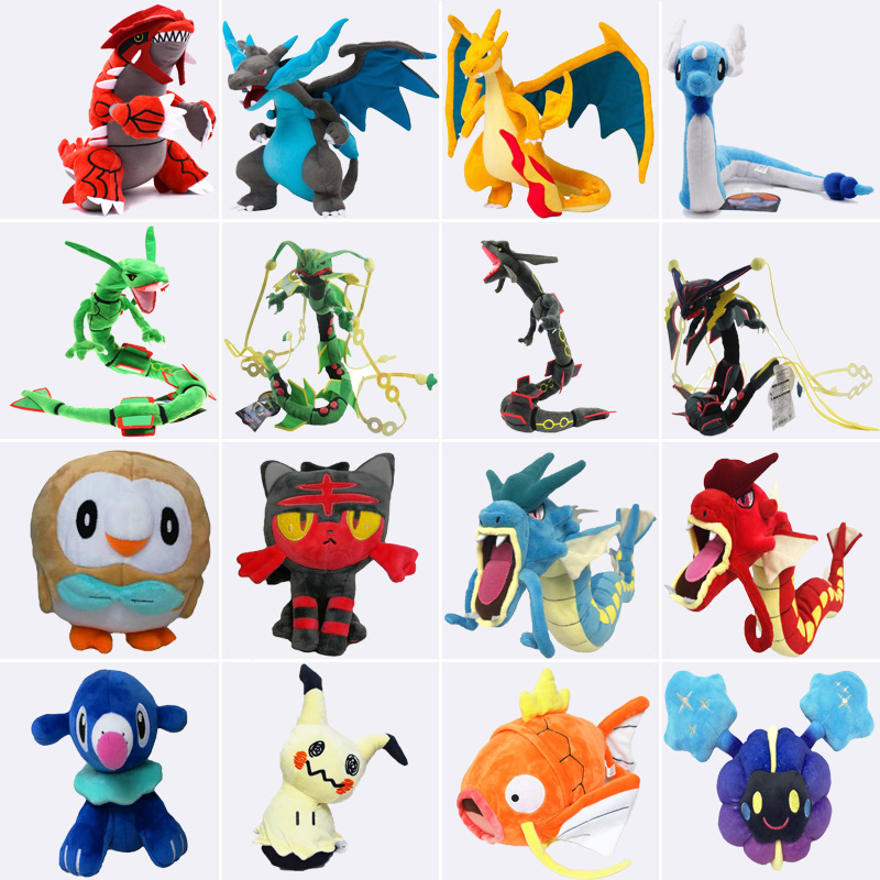 Gyarados Mega Charizard X&Y Dragonair Cosmog Mimikyu Rayquaza Alola Vulpix Stuffed Animal Dolls Children Plush Toys Kids As Gift