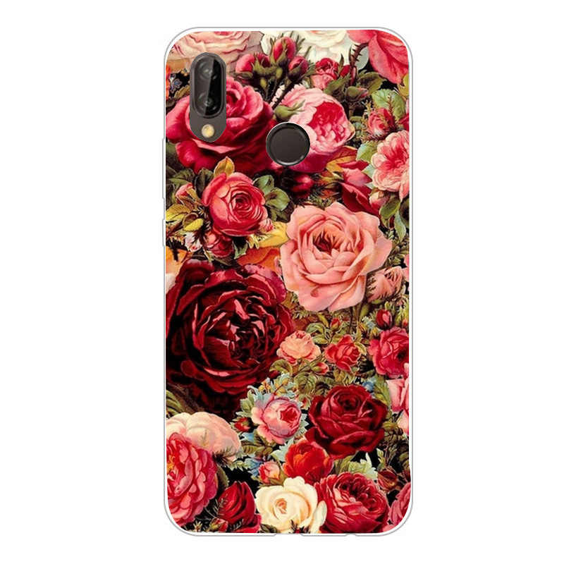 Cover For Huawei Y6 2018 Case marble 360 3D Cute Phone Case For Huawei Y6 prime 2018 Mate 10 P20 Lite P Smart P9 Lite mini Coque