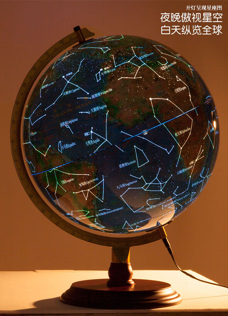 32cm LED Mountains Political Map / Constellation Globe Table Lamp World Map  Light Wood Base Office Desk Decor Geography Teaching In Table Lamps From  Lights ...