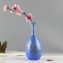 Decoração de casa criativa chinês Jingdezhen cerâmica artesanal colorido vaso de flor sala decoração de mesa