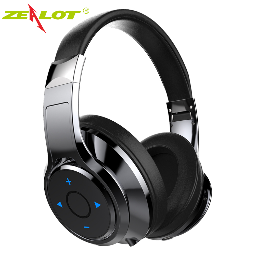 New ZEALOT B22 Over-Ear Bluetooth Headphone Stereo bluetooth headset wireless Bass Earphone Headphones With Mic For Phones 2016 new metal bluetooth stereo super bass headphones 8600 bluetooth 4 0 high fidelity wireless over ear headset for smart phone