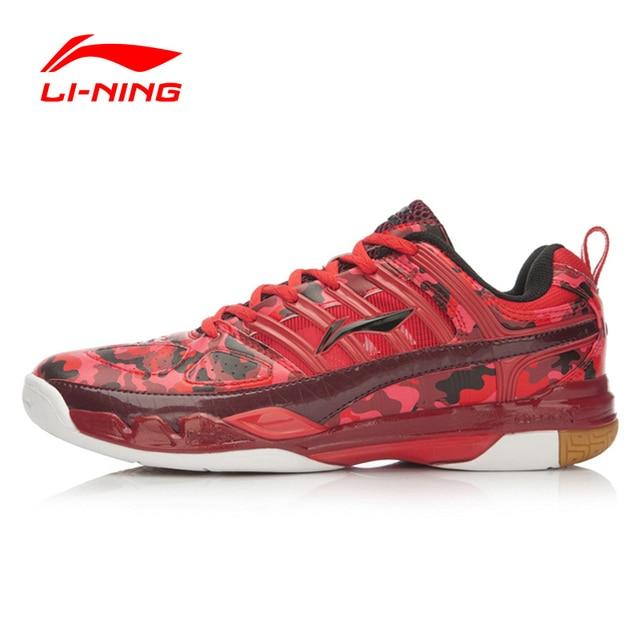 Li-Ning 2016 Badminton Shoes Leather Fabric Shiny Color Lace Up Hard-Wearing Sneakers Sport Shoes Men Li-Ning AYAK027 XYY019
