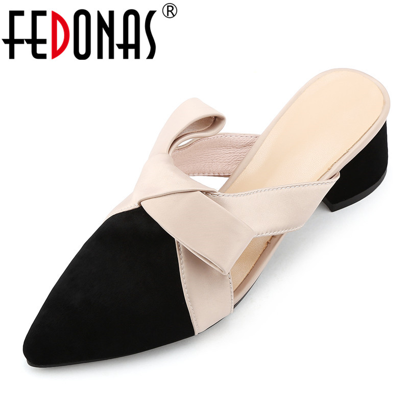 FEDONAS 2019 Elegant Women Bowknot Wedding Party Shoes Woman High Heels Cloed Toe Pumps Fashion Brand