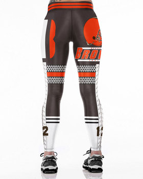 Unisex Football Team Browns 12 Print Tight Pants Workout Gym Training Running Yoga Sport Fitness Exercise Leggings Dropshipping 1