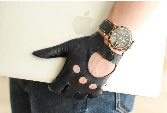 Мужчины оригинальные кожаные перчатки мужской тонкий овчины перчатки мужские кожаные перчатки мужские кожаные водительские перчатки