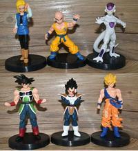 6 pçs/set 2020 anime dragon ball z super saiyan son goku troncos célula broli zenoh jaco pvc figuras de ação brinquedos modelo personagens