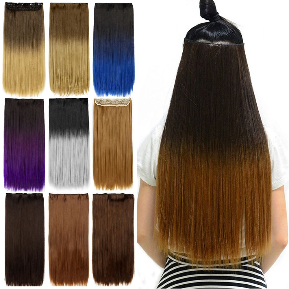 Online Shop Aimei 24 Long Straight Synthetic Clip In Hair