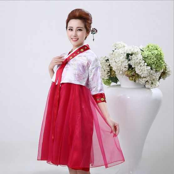 קיץ 6 צבע אלגנטי אישה מסורתי קוריאני נשי בגדי ביצועי תלבושות ריקוד מיעוט Hanbok שמלת Pincess משפט