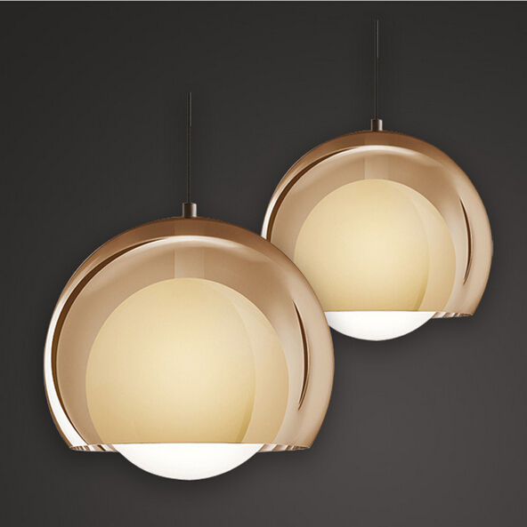 цена на modern fashion round acryl glass led 1/3 heads pendant light for dining room living room AC 85-265V 1022
