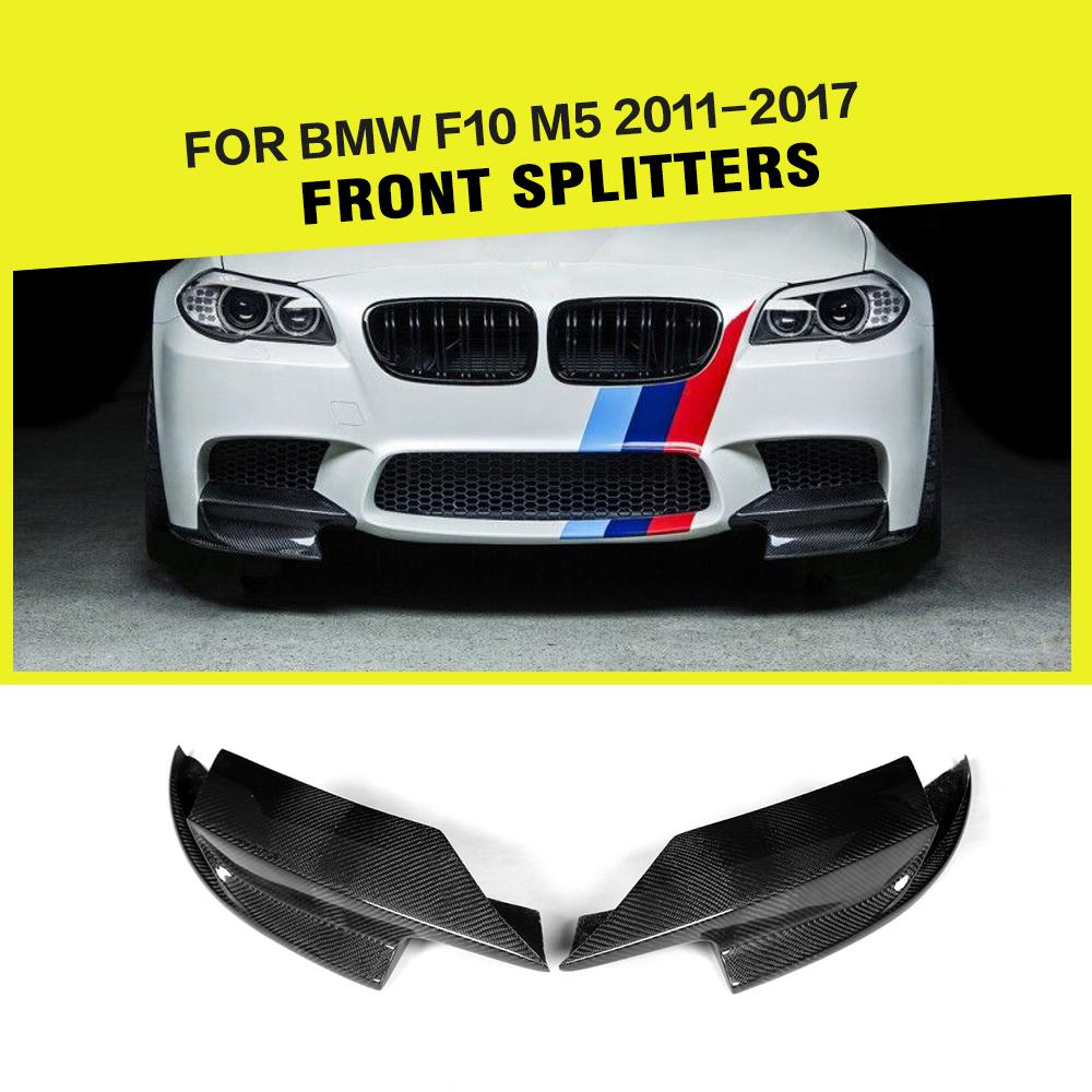 Carbon Fiber / FRP Car Front Bumper Splitter Lip Flap Cupwings Aprons for BMW 5 Series 528i F10 M5 Bumper Only 2011 - 2017 car styling carbon fiber front lip spoiler aron for bmw 5 series f10 m5 bumper only 2012 2016 car accessories