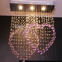 FREE SHIPPING Chandelier PENDANT LIGHT Heart Wedding Lights Modern Romantic Lamp K9 Crystal Lighting CRYSTAL LIGHTS